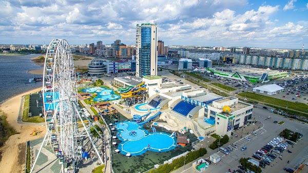 Popular tourist site Riviera Aquapark in Kazan