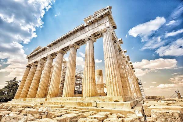 Popular tourist site Acropolis of Athens in Athens