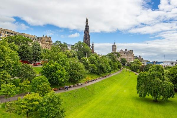 Popular tourist site Princes Street Gardens in Edinburgh