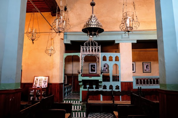 Popular tourist site Aben Danan Synagogue in Fez
