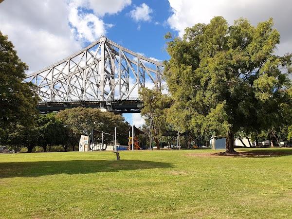Popular tourist site Captain Burke Park in Brisbane City