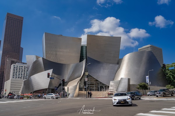 Popular tourist site Walt Disney Concert Hall in Los Angeles