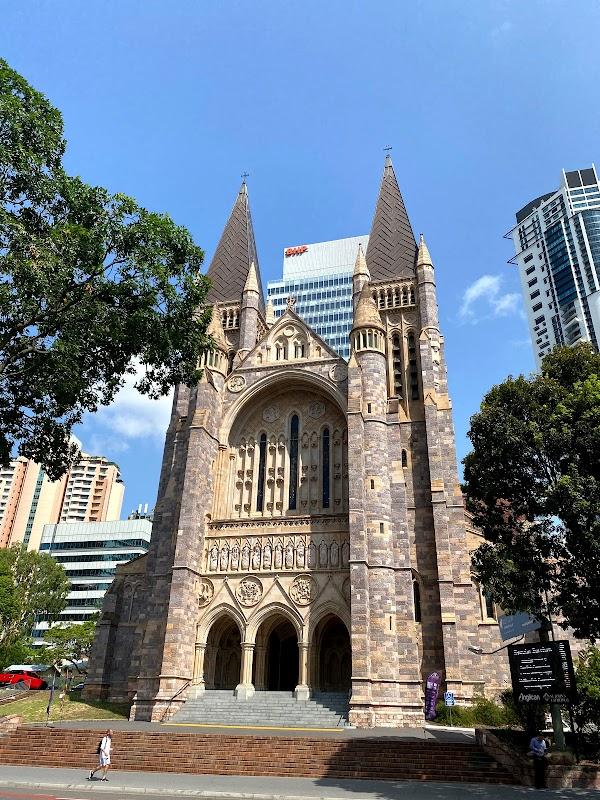 Popular tourist site Saint John's Cathedral in Brisbane City