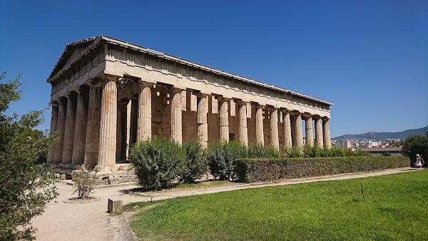 Popular tourist site Temple of Hephaestus in Athens