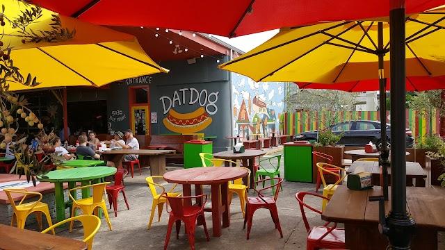Dat Dog banner backdrop