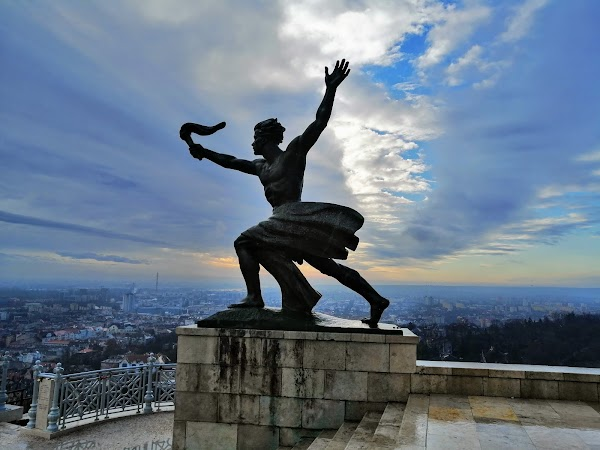 Popular tourist site Citadella in Budapest