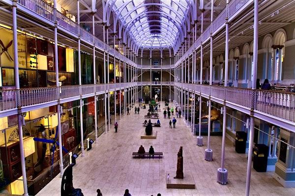 Popular tourist site National Museum of Scotland in Edinburgh