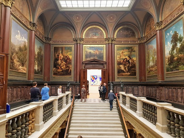 Popular tourist site Hamburger Kunsthalle in Hamburg