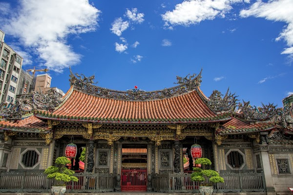 Popular tourist site Lungshan Temple in Taipei