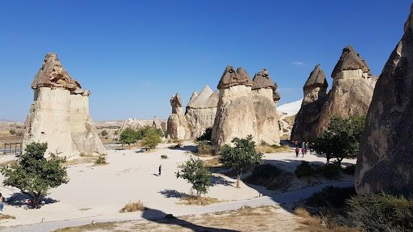 Popular tourist site Fairy Chimneys in Cappadocia