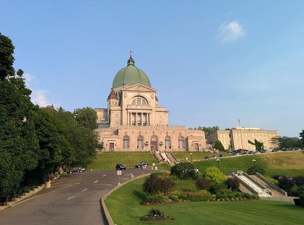 Popular tourist site Saint Joseph's Oratory of Mount Royal in Montreal