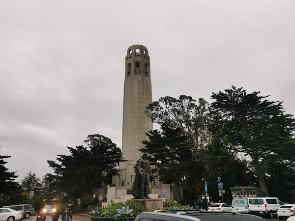 Popular tourist site Coit Tower in San Francisco