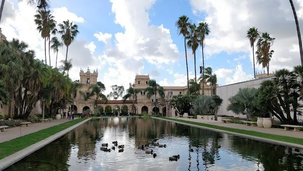 Popular tourist site Balboa Park in San Diego