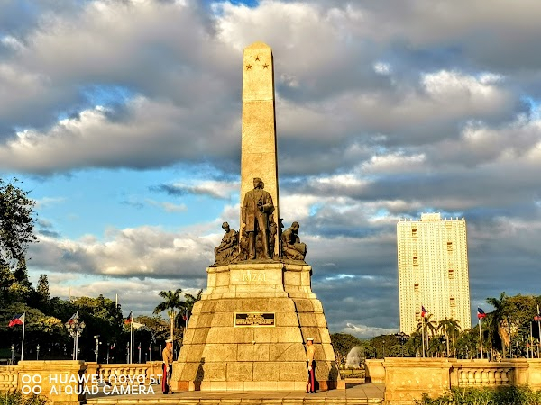 Popular tourist site Dr. José Rizal National Monument in Manila