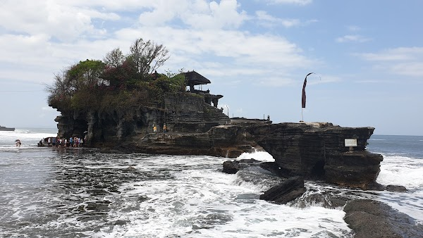 Popular tourist site Tanah Lot in Canggu