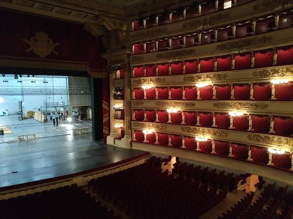 Popular tourist site Teatro alla Scala in Milano