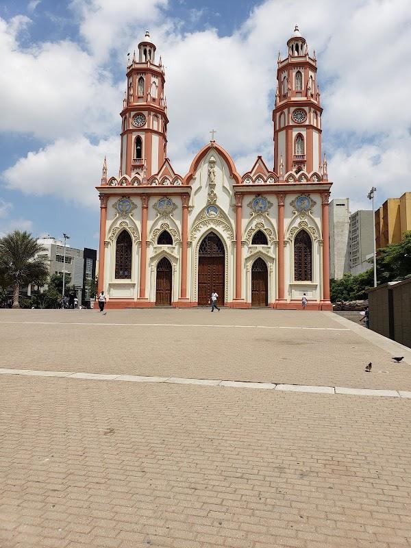 Popular tourist site Church of San Nicolas de Tolentino in Barranquilla