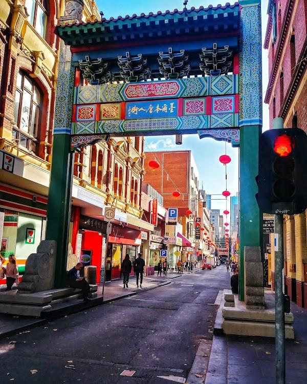 Popular tourist site Chinatown Melbourne 墨尔本唐人街 in Melbourne