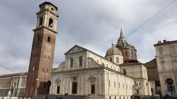 Popular tourist site Cathedral of Saint John the Baptist in Turin