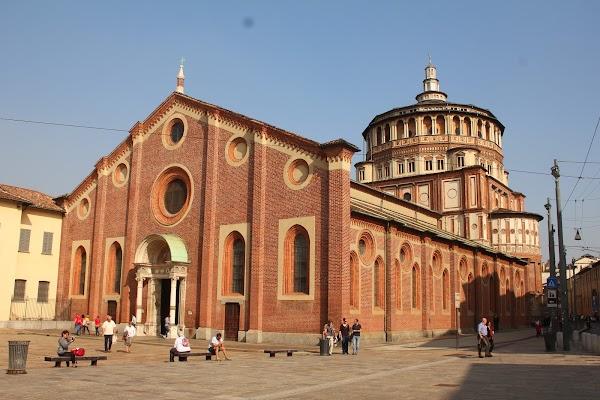 Popular tourist site Santa Maria delle Grazie in Milano