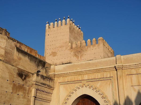 Popular tourist site Bab Makina Plaza in Fez