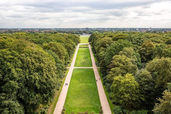 Popular tourist site Stadtpark in Hamburg
