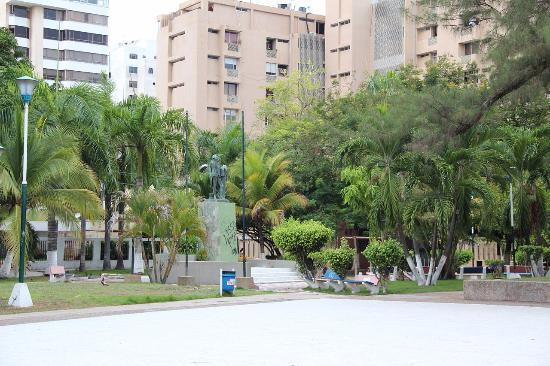 Popular tourist site Washington Park in Barranquilla