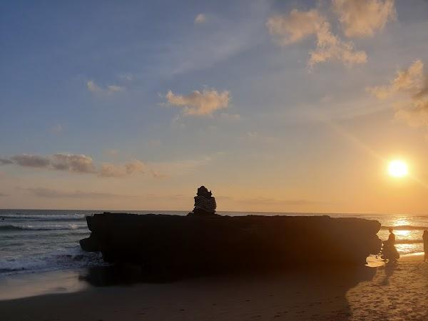Popular tourist site Batu Bolong Beach in Canggu