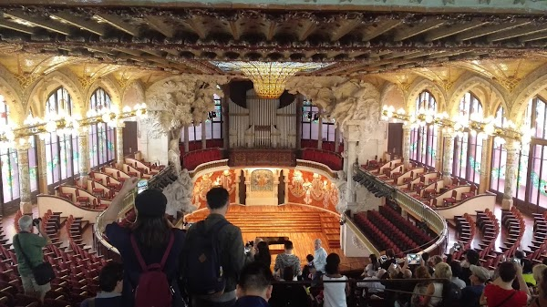 Popular tourist site Palau de la Música Catalana in Barcelona