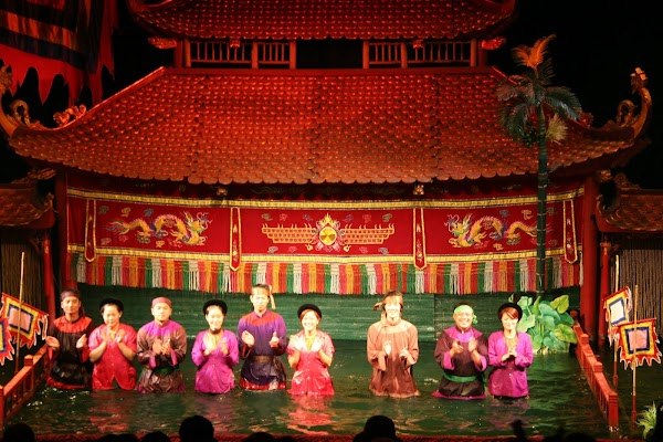 Popular tourist site Thang Long Water Puppet Theatre in Hanoi