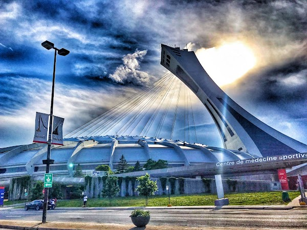 Popular tourist site Montreal Olympic Park in Montreal