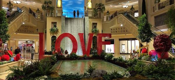 Popular tourist site The Palazzo in Las Vegas