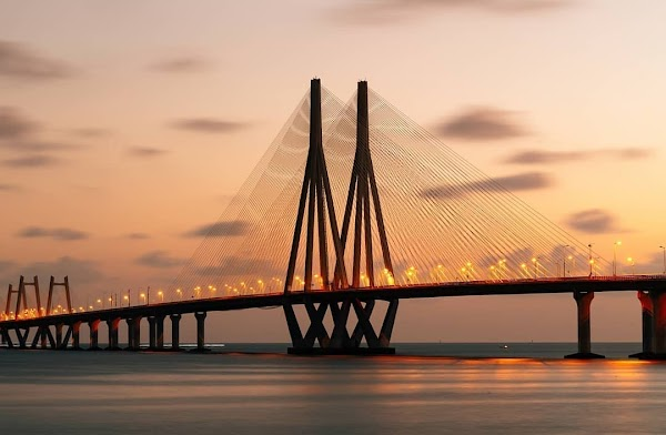 Popular tourist site Bandra Worli Sea Link in Mumbai