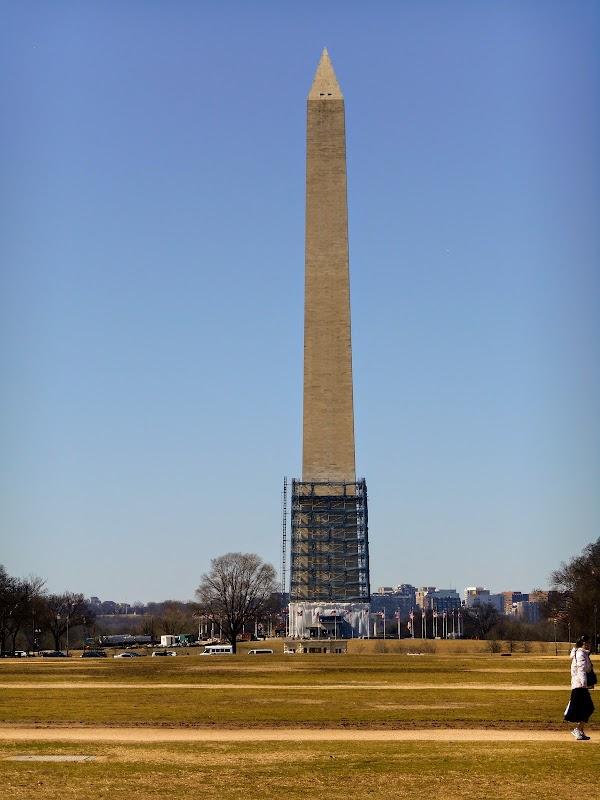 Popular tourist site Washington Monument in Washington D.C.