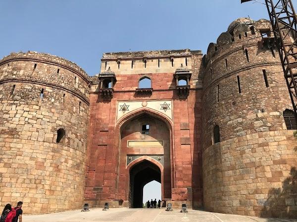 Popular tourist site Purana Qila in New Delhi