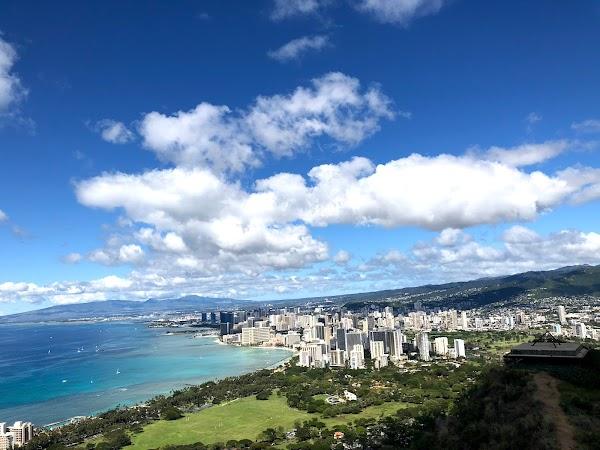 Popular tourist site Diamond Head State Monument in Honolulu