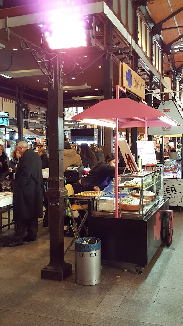 Popular tourist site Mercado de San Miguel in Madrid