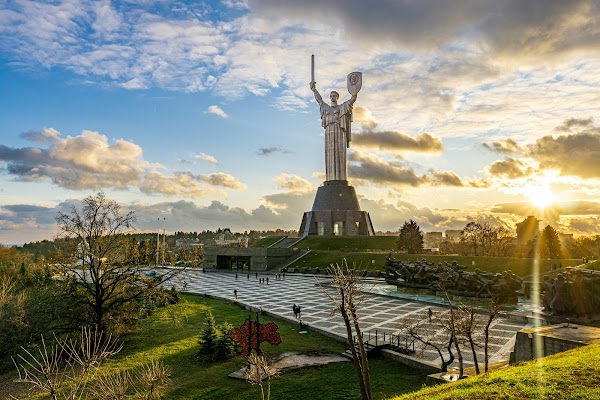 Popular tourist site The Motherland Monument in Kyiv
