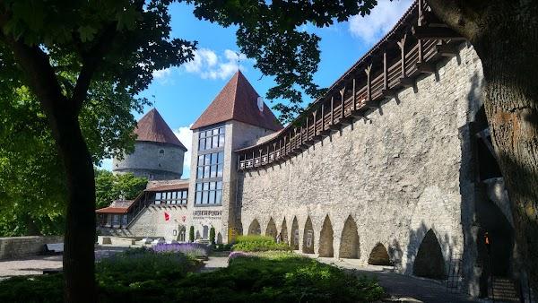 Popular tourist site Danish King's Garden in Tallinn