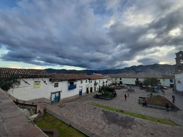 Popular tourist site Plaza San Blas in Cusco
