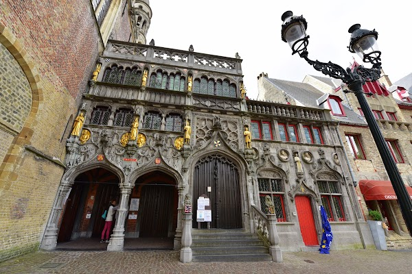 Popular tourist site Basilica of the Holy Blood in Bruges