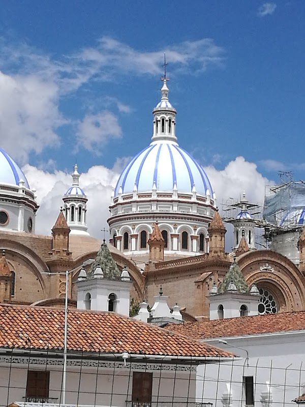 Popular tourist site Cathedral of the Immaculate Conception in Cuenca