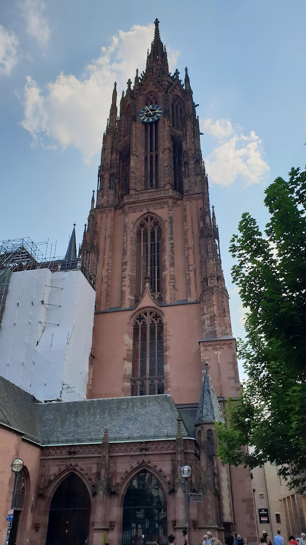 Popular tourist site Frankfurt Cathedral in Frankfurt