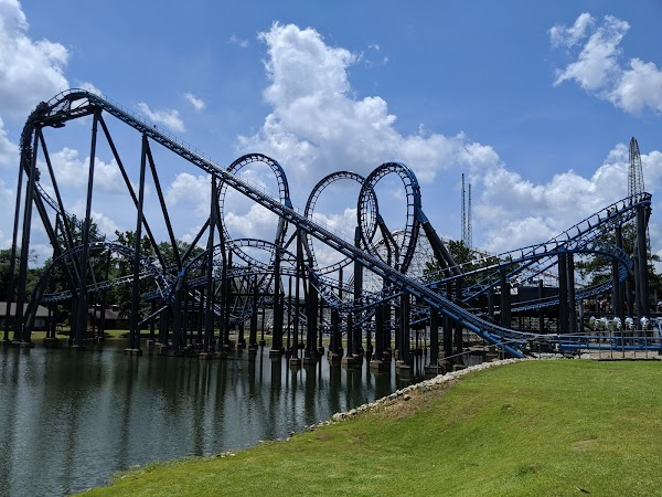 Popular tourist site Six Flags Over Georgia in Villa Rica