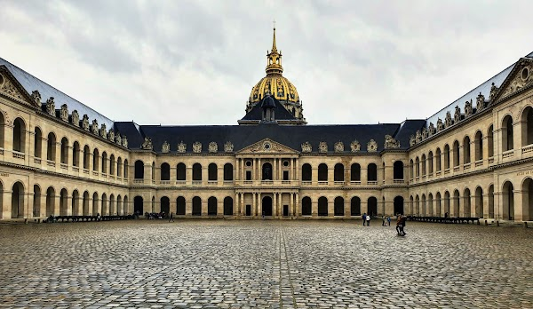 Popular tourist site Les Invalides in Paris
