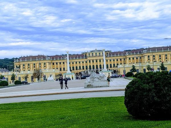 Popular tourist site Schönbrunn Palace in Vienna