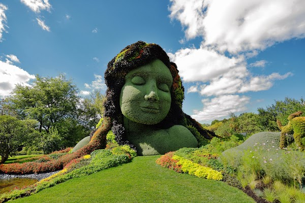 Popular tourist site Montreal Botanical Garden in Montreal