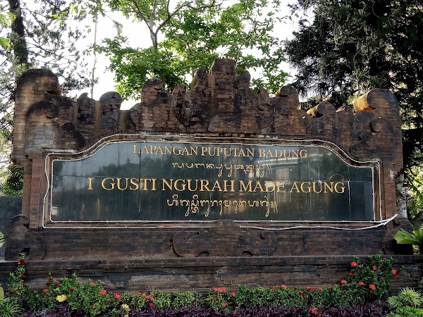Popular tourist site Lapangan Puputan Badung in Denpasar City