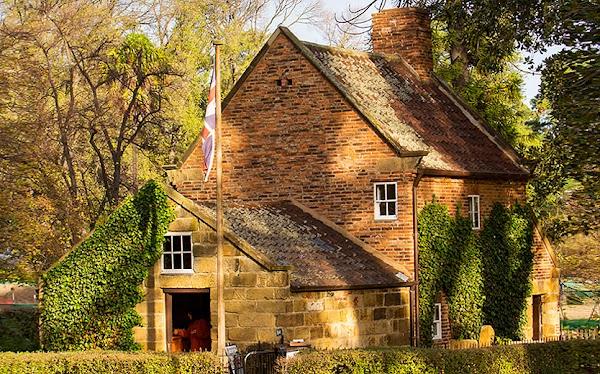 Popular tourist site Cooks' Cottage in Melbourne