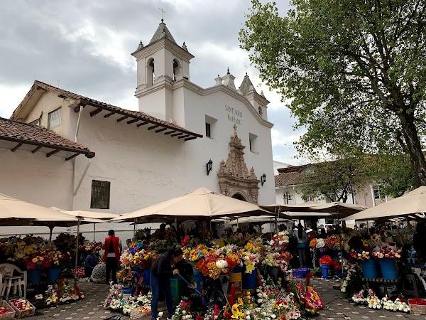 Popular tourist site Plaza de las Flores in Cuenca